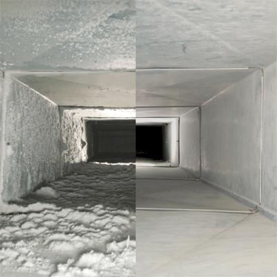 До и после прочистки вентиляции